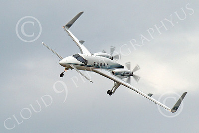 BIZJET - Beechcraft 2000A Starship 00002 N514RS, a Beechcraft 2000A Starship, banks to land, by Peter J Mancus