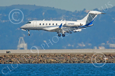 BIZET - Challenger 00004 Bombardier Canadair CL-600 Challenger N746E by Peter J Mancus