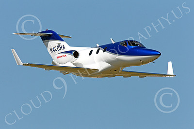 BIZJETP - Honda Jet 00002 A nice flying shot of the Honda Jet prototype, N420HA, by Peter J Mancus