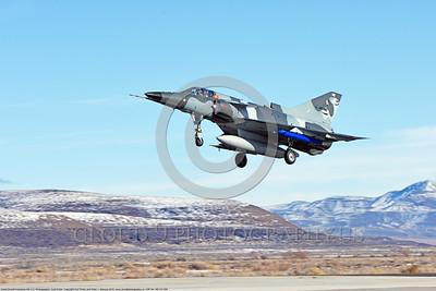 Kfir-Civ 006 An Israel Aircraft Industries Kfir C 2 ATAC Airborne Tactical Advantage jet fighter civilian adversary lands at NAS Fallon 2015 military airplane picture by Carl E  Porter