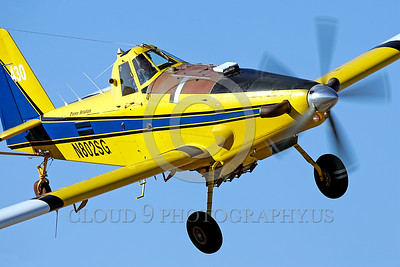 FF-AT 00002 A flying blue and yellow US Forest Service Air Tanker Model AT-802 SEATS N802SG fire fighting airplane picture by Peter J Mancus