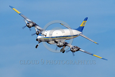 FF-DC-7 00014 A landing Douglas DC-7 Butler Aircraft Co fire fighting airplane picture by Peter J Mancus