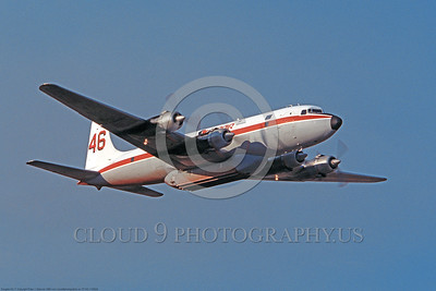 FF-DC-7 00024 A flying Douglas DC-7 Conair fire fighting airplane picture by Peter J Mancus  DONEwt copy