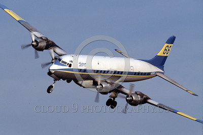 FF-DC-7 00016 A landing Douglas DC-7 Butler Aircraft Co fire fighting airplane picture by Peter J Mancus