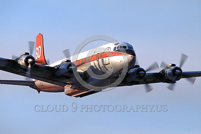 FF-DC-7 00022 A flying Douglas DC-7 N838D fire fighting airplane picture by Peter J Mancus