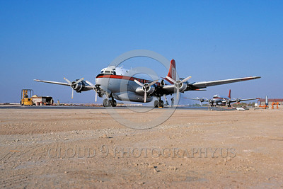 FF-DC-6 00005 A static Douglas DC-6 Lancaster 10-1985 fire fighting airplane picture by Peter J Mancus