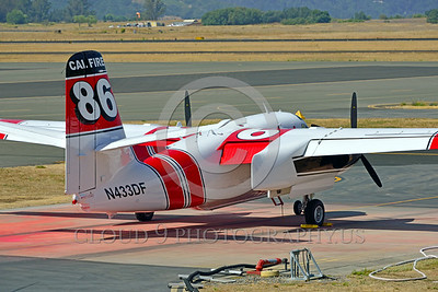 FF-S-2 00025 An elevated quarter rear view of a static Grumman S-2 Tracker ex-anti-submarine warfare airplane now Cal Fire 86 Santa Rosa 8-2015 fire fighting airplane picture by Peter J Mancus