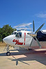 FF-S-2 00031 A quarter front view of a static Grumman S-2 Tracker Cal Fire 85 Santa Rosa 8-2015 fire fighting airplane picture by Peter J Mancus