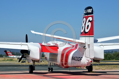 FF-S-2 00007 A quarter rear view of a static Grumman S-2 Tracker ex-anti-submarine warfare airplane now Cal Fire 86 Santa Rosa 8-2015 fire fighting airplane picture by Peter J Mancus