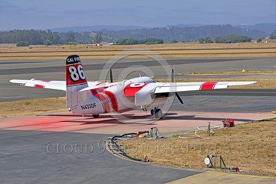 FF-S-2 00003 An elevated quarter rear view of a static Grumman S-2 Tracker ex-anti-submarine warfare airplane now Cal Fire 86 Santa Rosa 8-2015 fire fighting airplane picture by Peter J Mancus