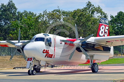 FF-S-2 00005 A quarter front view of a static Grumman S-2 Tracker ex-anti-submarine warfare airplane now Cal Fire 85 Santa Rosa 8-2015 fire fighting airplane picture by Peter J Mancus