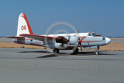 FF-P-2 00005 A taxing Lockheed P-2 Neptune N9855F fire fighting airplane picture 9-1987 by Peter B Lewis