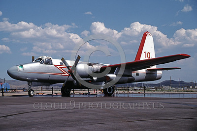 FF-P-2 00001 A static Lockheed P-2 Neptune fire fighting airplane picture 8-1990 by Peter B Lewis