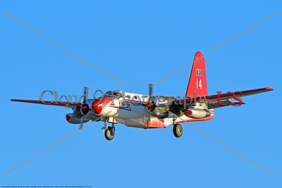 FF-P-2 00004 A landing civilian Neptune Aviation Services' Lockheed P-2 Neptune fire fighting airplane picture 2017 by Carl E  Porter     DONEwt