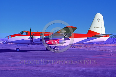 FF-P-2 00013 A static Lockheed P-2 Neptune N140HP 10-1990 fire fighting airplane picture by Douglas D Olson