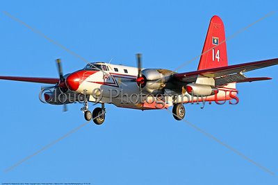 FF-P-2 00020 A landing civilian Neptune Aviation Services' Lockheed P-2 Neptune fire fighting airplane picture 2017 by Carl E  Porter     DONEwt