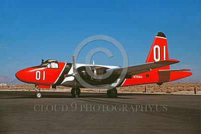 FF-P-2 00017 A static Lockheed P-2 Neptune N701AU 12-1989 fire fighting airplane picture by Peter B Lewis