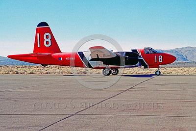 FF-P-2 00015 A taxing Lockheed P-2 Neptune N718AU fire fighting airplane picture by Peter B Lewis