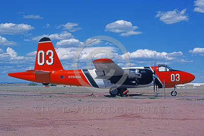 FF-P-2 00019 A static Lockheed P-2 Neptune N703AU 9-1988 fire fighting airplane picture by Kevin L Patrick