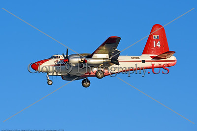 FF-P-2 00016 A landing Lockheed P-2 Neptune civilian Neptune Aviation Services' N410NA fire fighting airplane, 2017, by Carl E  Porter     DONEwt