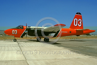 FF-P-2 00021 A taxing Lockheed P-2 Neptune N703AU 12-1989 fire fighting airplane picture by Michael Grove, Sr