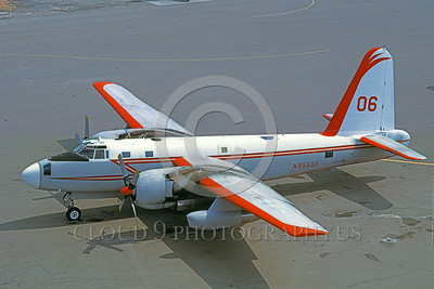 FF-P-2 00007 A static Lockheed P-2 Neptune N9855F fire fighting airplane picture 10-1967 by Carl E Porter