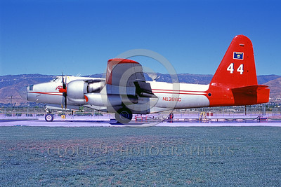 FF-P-2 00009 A static Lockheed P-2 Neptune N1386C fire fighting airplane USFS San Berdoo 10-2006 airplane picture by Frank Carlson