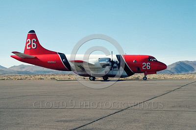 FF-P-3 00001 A static Lockheed P-3 Orion N926AU fire fighting airplane picture by Peter B Lewis