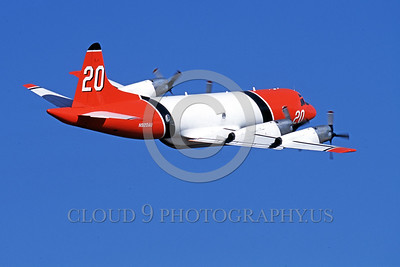 FF-P-3 00008 A flying Lockheed P-3 Orion N920AU fire fighting airplane picture by Peter J Mancus