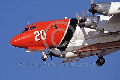 FF-P-3 00006 A landing Lockheed P-3 Orion fire fighting airplane picture by Peter J Mancus