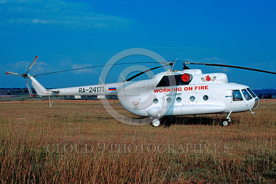 FF-Mi-8 00001 A static Russian Mil Mi-8 Hip fire fighting helicopter picture courtesy African Aviation Slide Service