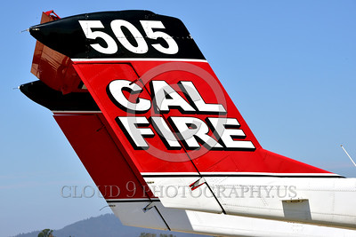 FF-OV-10 00013 Close up of tail of a static North American OV-10 Bronco Cal Fire 505 N470DF McClellan at Santa Rosa fire fighting airplane picture by Peter J Mancus