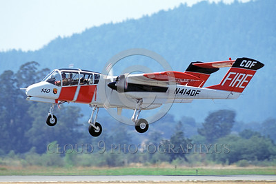 FF-OV-10 00004 A flying North American OV-10 Bronco CDF California Division of Forestry N414DF fire fighting airplane picture Santa Rosa by Peter Mancus