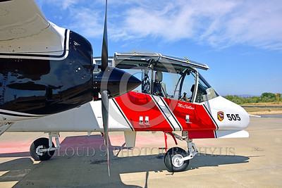 FF-OV-10 00007 A side profile close up of the nose of a static North American OV-10 Bronco Cal Fire 505 N470DF McClellan at Santa Rosa fire fighting airplane picture by Peter J Mancus