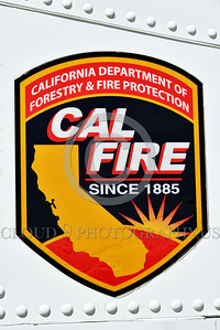 FF-OV-10 00009 Close up of Cal Fire decal on North American OV-10 Bronco Cal Fire 505 N470DF McClellan at Santa Rosa fire fighting airplane picture by Peter J Mancus