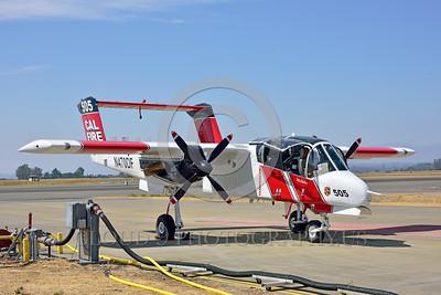 FF-OV-10 00001 A static North American OV-10 Bronco Cal Fire 505 N470DF McClellan at