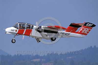 FF-OV-10 00006 A flying North American OV-10 Bronco CDF California Division of Forestry N414DF fire fighting airplane picture by Peter Mancus