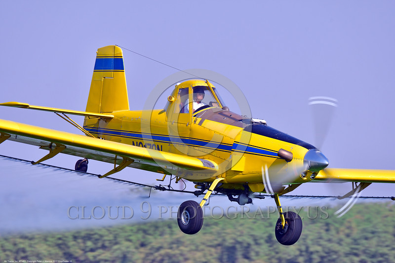 CropDuster 0002 A low flying Air Tractor Inc  AT-401 crop duster, N9179N, spraying a field in Wasco, California 8-2017 crop duster picture by Peter J  Mancus     DONEwt