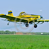 CropDuster 0012 A low flying Air Tractor Inc  AT-401 crop duster, N9179N, spraying a field in Wasco, California 8-2017, crop duster picture by Peter J  Mancus     DONEwt