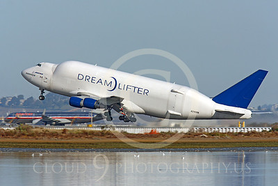 B747-400LCF 00002 Boeing 747-400LCF Large Cargo Freighter Dreamlifter N249BA by Peter J Mancus