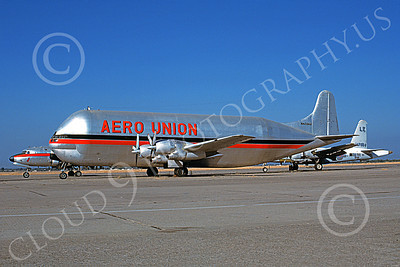 C-97Civ 00004 A static Boeing C-97 Guppy Aero Union N422AU 10-1987 airplane picture by Michael Grove, Sr