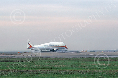 C-97Civ 00003 An expansive view of a taxing Boeing C-97 Guppy Aero Spaceline N1038V taking a runway 2-1979 airplane picture by Michael Grove, Sr