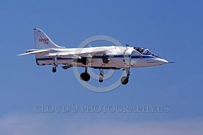 NASA-AV-8A 00004 A flying McDonnell Douglas AV-8A Harrier NASA 719 5-1989 NASA airplane picture by Peter B Lewis