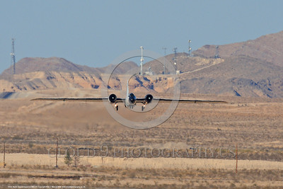 NASA-B-57 00026 A landing Martin-General Dynammics WB-57F NASA N926NA 63-13503A high altitude atmospheric research aircraft Nellis AFB 8-2009 airplane picture by Peter J  Mancus