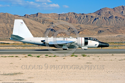NASA-B-57 00021 A taxing Martin-General Dynammics WB-57F NASA N926NA 63-13503A high altitude atmospheric research aircraft Nellis AFB 8-2009 airplane picture by Peter J  Mancus