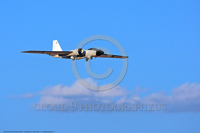NASA-B-57 00016 A landing Martin-General Dynammics WB-57F NASA N926NA 63-13503A high altitude atmospheric research aircraft 8-2009 airplane picture by Peter J  Mancus