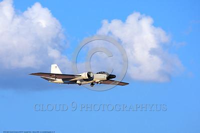 NASA-B-57 00024 A landing Martin-General Dynammics WB-57F NASA N926NA 63-13503A high altitude atmospheric research aircraft 8-2009 airplane picture by Peter J  Mancus