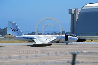 NASA-B-57 00011 A taxing white NASA Martin RB-57F Canberra N926NA NAS Moffett 6-2006 NASA airplane picture by Michael Grove, Sr