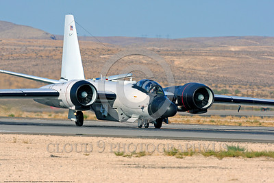 NASA-B-57 00017 A Martin-General Dynammics WB-57F NASA N926NA 63-13503A high altitude atmospheric research aircraft on Nellis AFB's runway 8-2009 airplane picture by Peter J  Mancus