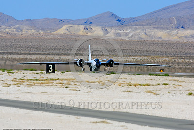 NASA-B-57 00019 A Martin-General Dynammics WB-57F NASA N926NA 63-13503A high altitude atmospheric research aircraft on Nellis AFB's runway 8-2009 airplane picture by Peter J  Mancus